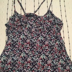 AMERICAN EAGLE: (S) Floral Tank